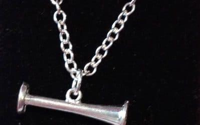Silver Miniature Pinard (2cm) pendant on silver chain