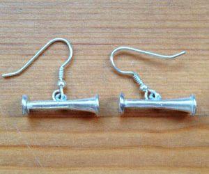Silver Miniature Pinards earrings 2cm