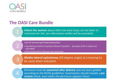 OASI Care Bundle: First do no harm